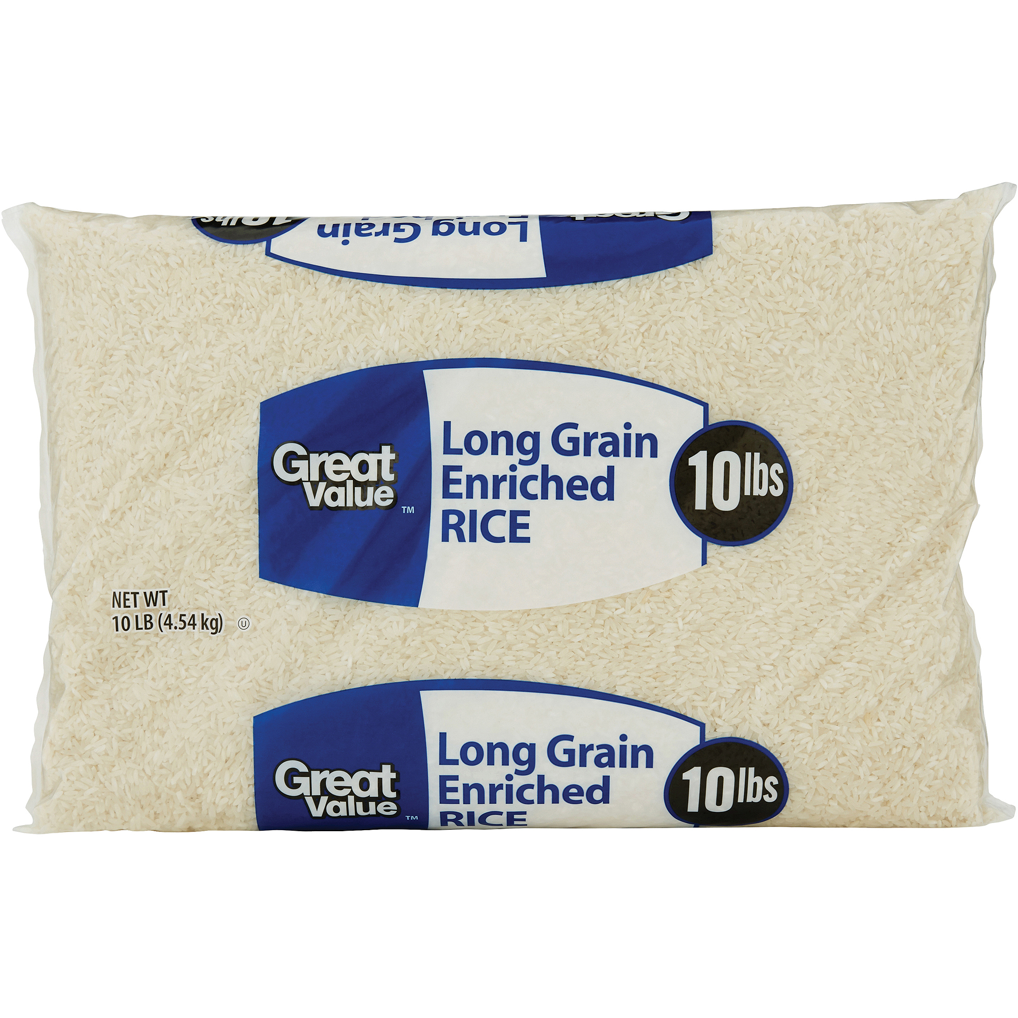 Great Value: Long Grain Enriched Rice, 10 Lb