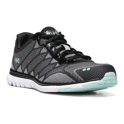 ryka women's celeste walking-shoes, grey/black, 5 m us