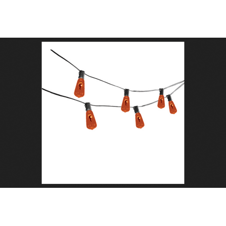 Sylvania Vintage Flicker Flame Lights Halloween Decoration Orange 12 ft. L