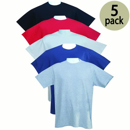 - VALUE PACK  > BUY 3 GET 2 FREE > 5 PACK > L7 BRAND > Men's Premium Crewneck Tee (S-3XL) $10 S/H is on the 1st Pack only. In this Pack: (S)(1Black/1Red/1White/1Navy/1SportGrey)