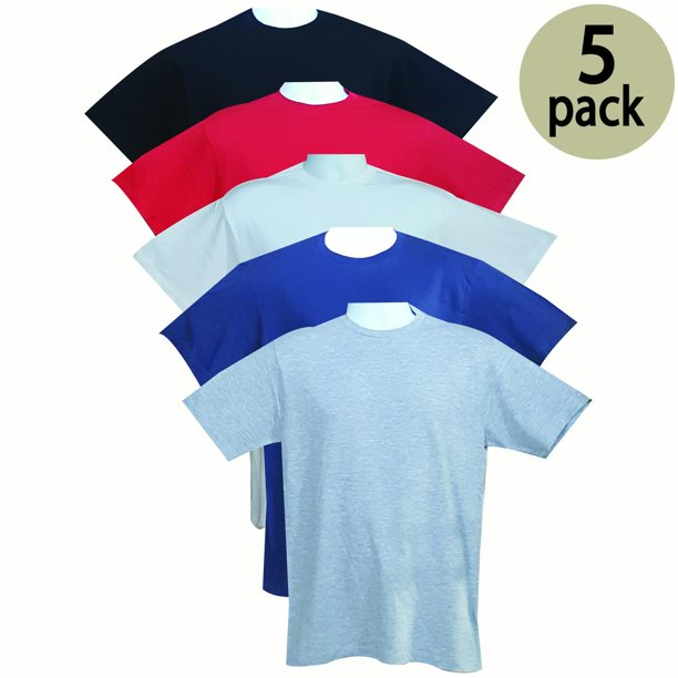 VALUE PACK  > BUY 3 GET 2 FREE > 5 PACK > L7 BRAND > Men's Premium Crewneck Tee (S-3XL) $10 S/H is on the 1st Pack only. In this Pack: (2XL)(1Black/1Red/1White/1Navy/1SportGrey)