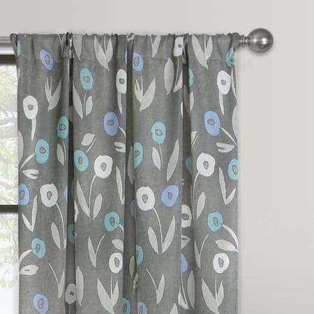 Cotton Modern Curtain - Mainstays Modern Floral Window Curtain Panel