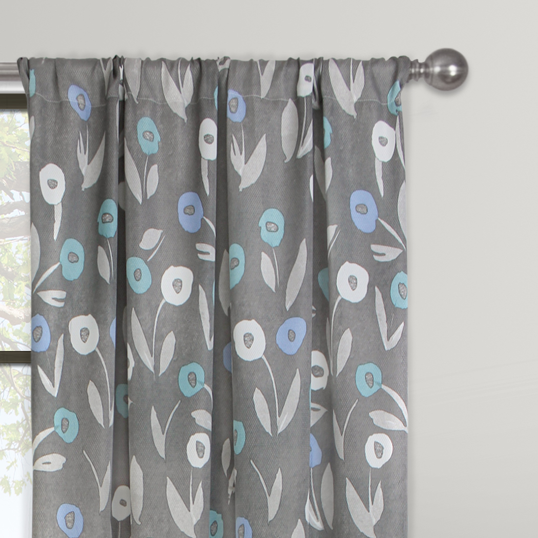 Mainstays Modern Floral Window Curtain Panel