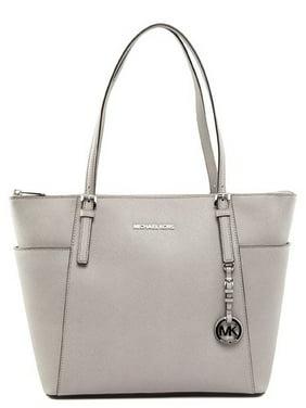 094b62949199 Product Image Michael Kors Large Jet Set Item E/W Pearl Grey Tote Handbag