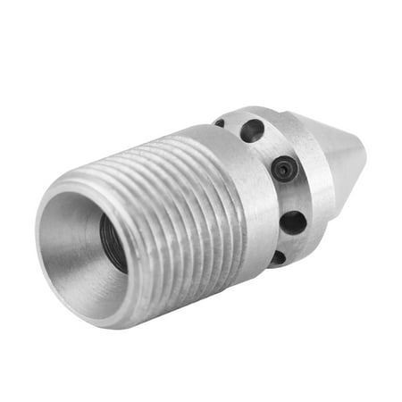 Cergrey Jetting Nozzle, Drain Jet Nozzle, Stainless Steel SS304 Pressure Sewer Cleaning Pipe Drain Jetter Nozzle 3/8BSP Male Thread - image 1 of 5