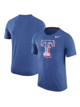 26307770363f0 Product Image Texas Rangers Nike Tri-Blend T-Shirt - Heathered Royal