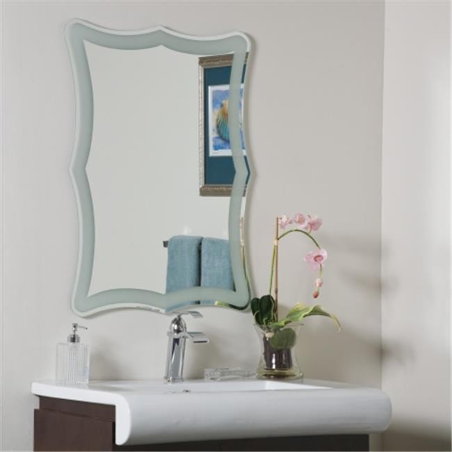 Decor Wonderland SSM183 Coquette Frame-less Bathroom Mirror by Decor Wonderland