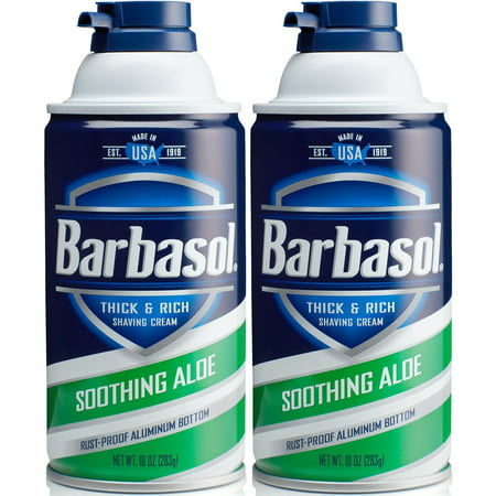 2 Pack - Barbasol - Thick and Rich Shaving Cream With Soothing Aloe 10oz Each