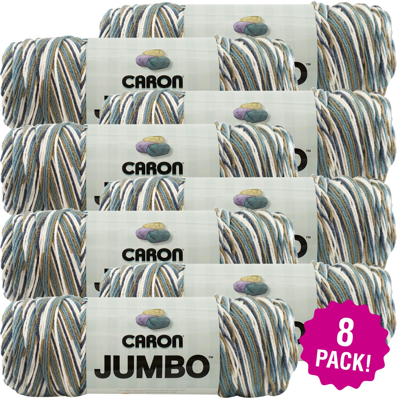 Caron Jumbo Print Yarn - Country Basket, Multipack of 8