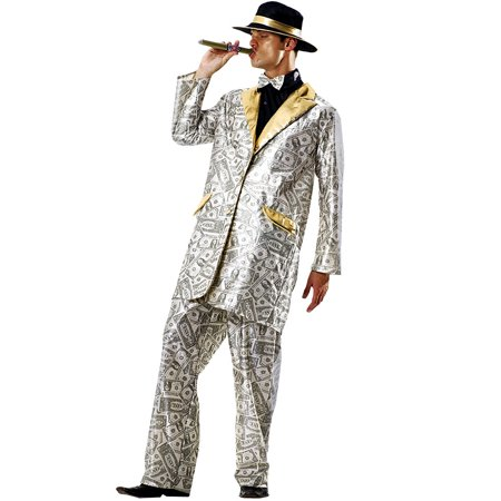 Boo! Inc. Men's Money Suit Halloween Costume | Gangster & Million Dollar Dream - Million Dollar Halloween Costume