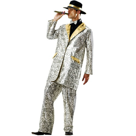 Boo! Inc. Men's Money Suit Halloween Costume | Gangster & Million Dollar Dream Outfit