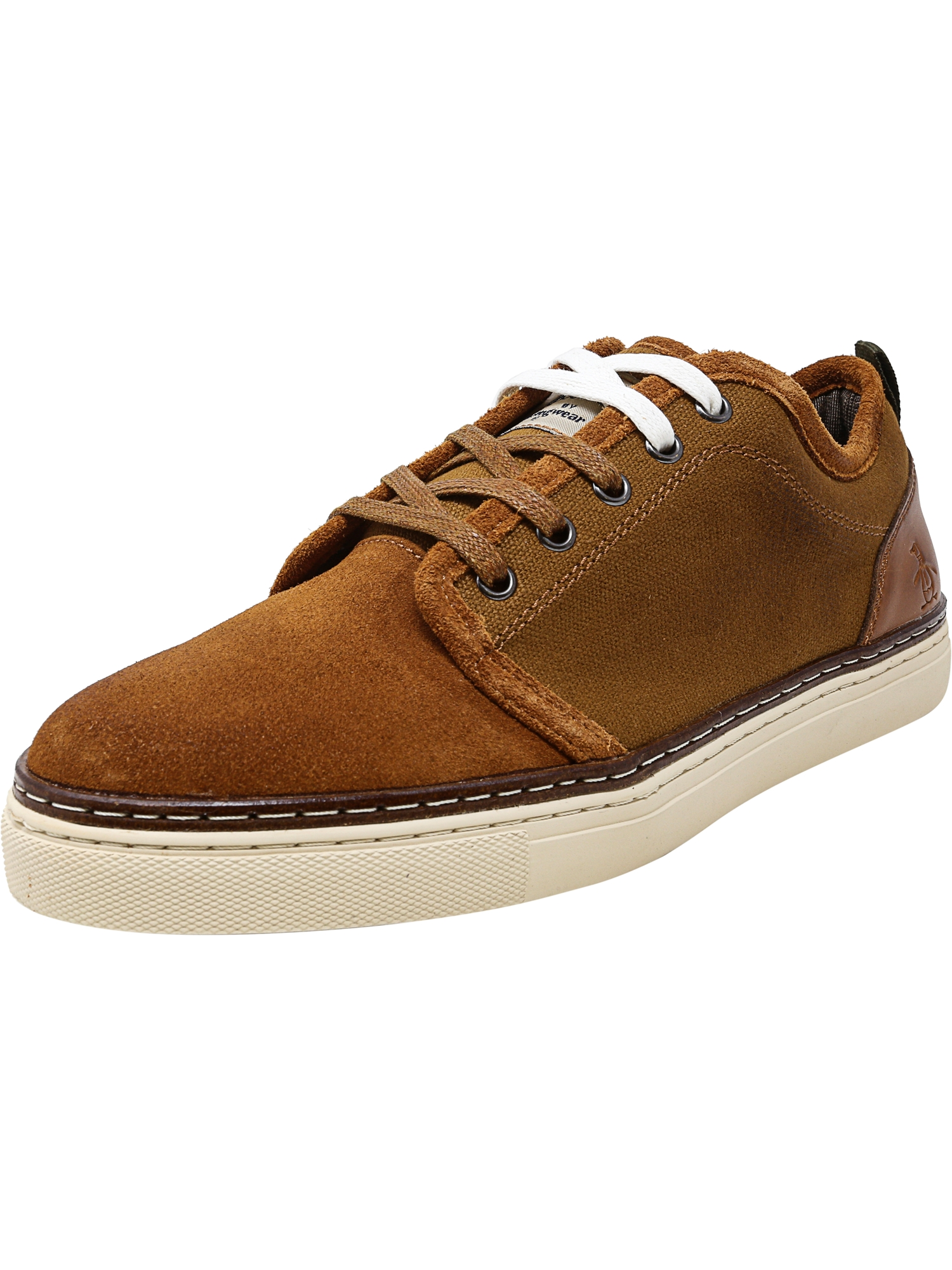 Original Penguin Men's Carlin Cognac Ankle-High Leather Fashion Sneaker - 10M