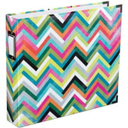 "Project Life Printed Chipboard D-Ring Album, 12"" x 12"", Heidi Swapp Multi Chevron"
