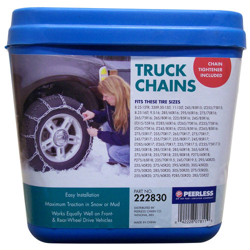 Peerless Truck Tire Chains with Rubber Tighteners, #222830 by Peerless