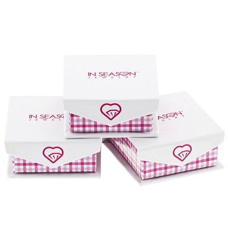 """925 Sterling Silver Pink CZ Small Hoop Huggie Dangle Flower Earrings Girls 0.39"""" - image 3 of 5"""