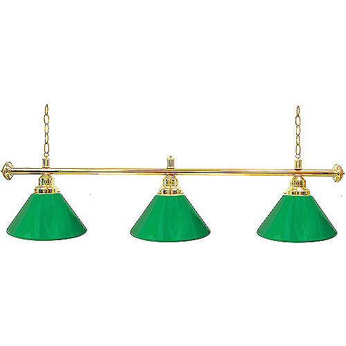 "Trademark Global Premium 60"" 3-Shade Billiard Lamp, Green and Gold"