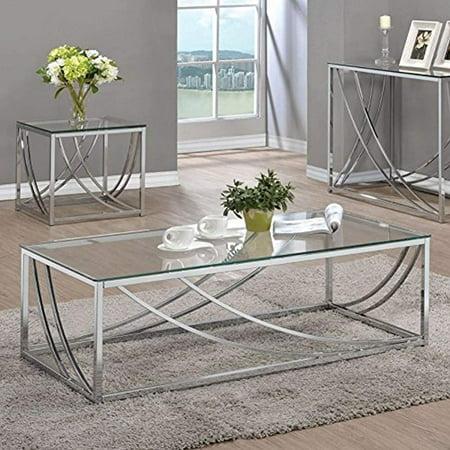 Coaster Company Coffee Table, Chrome