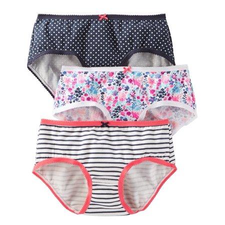 Carter's Big Girls' 3 Pack Panties (Toddler/Kid), Size 14 (Girls Three Pack)