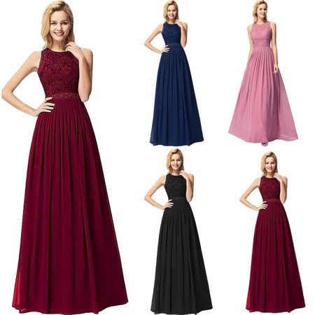 3f0286aa05 Ever-Pretty - Ever-Pretty Womens Elegant Lace Sleeveless Floor Length  Formal Evening Prom Ball Gown Party Gala Dresses for Women 07391 US 4 -  Walmart.com