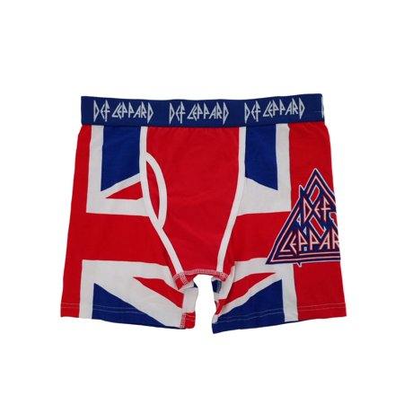 f486f13ac3 Def Leppard Mens Union Jack All Over Print Boxer Briefs Boxers - Walmart.com