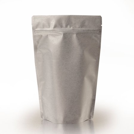 Silver Bells Luanne Rice (Silver 25 pack 8oz Metallic Rice Paper 5-7/8 x 3-1/2 x 9 inches Stand-Up Food Pouches)