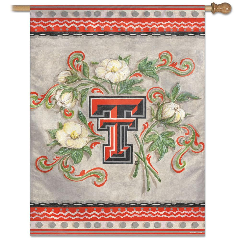 Texas Tech University Vertical Outdoor House Flag