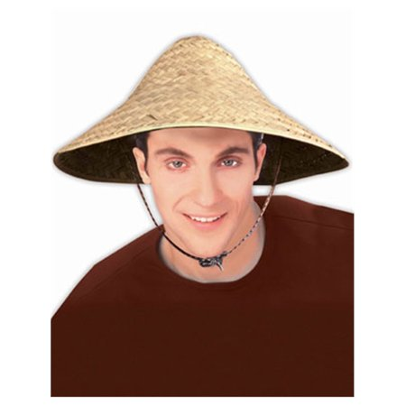 Adult Straw Costume Accessory Coolie Conical Asian Hat - Funny Asian Halloween Costumes