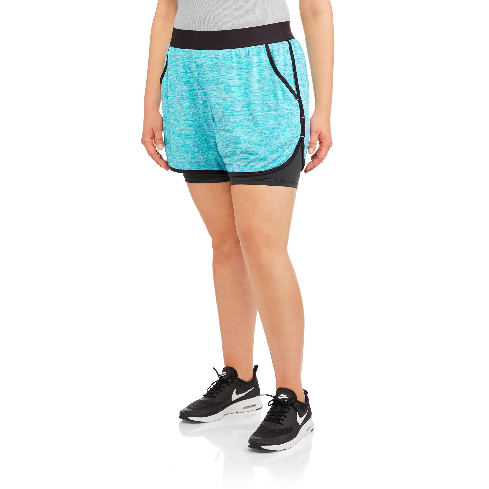 Danskin Now Women's Plus Layered Short