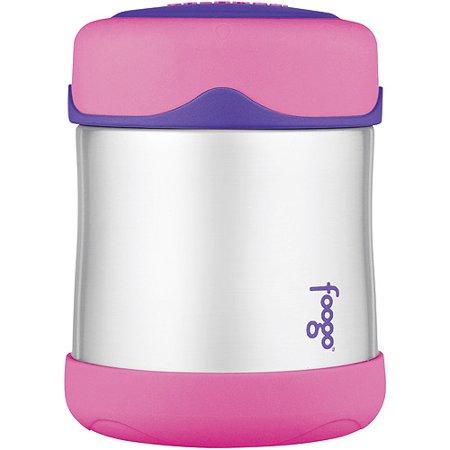 Thermos - Foogo Food Jar 10-oz, Stainless Steel Pink, BPA-Free