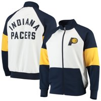 Indiana Pacers G-III Sports by Carl Banks Warm Up Colorblock Raglan Full-Zip Track Jacket - Navy/White