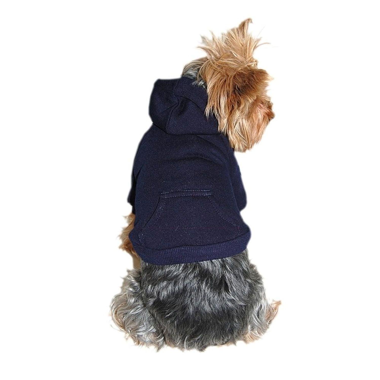 Blue Dog Clothing Clothes Pet Puppy Plain Sweatshirt Hoodie Shirt Jacket Coat - Medium (Gift for Pet)