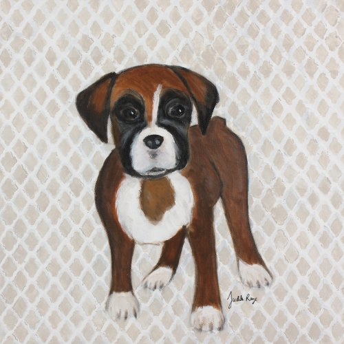 Judith Raye Paintings LLC Puppy Boxer by Judith Raye Painting Print on Canvas