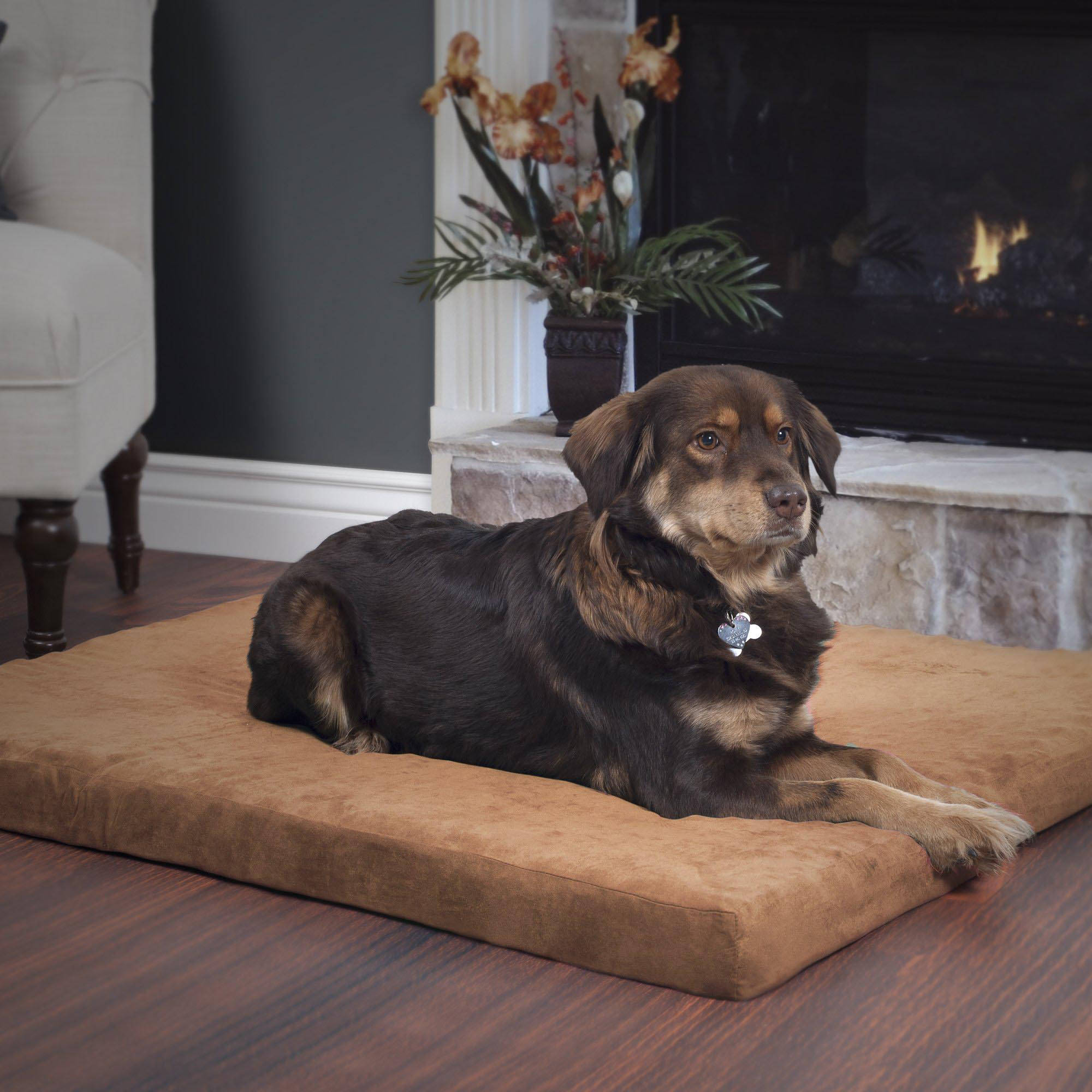 PETMAKER Orthopedic Super Foam Pet Bed, Clay