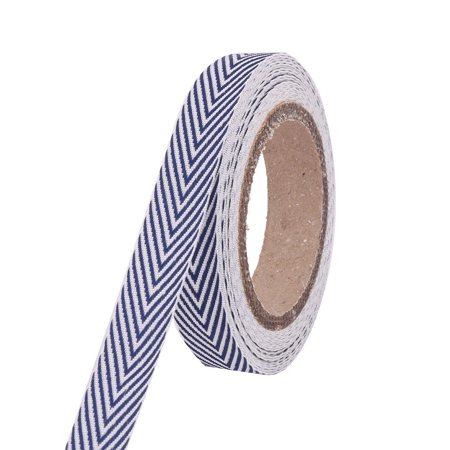 Polyester Geometric Pattern Headwear Wrist Decor Handcraft Ribbon Roll 5 Yards