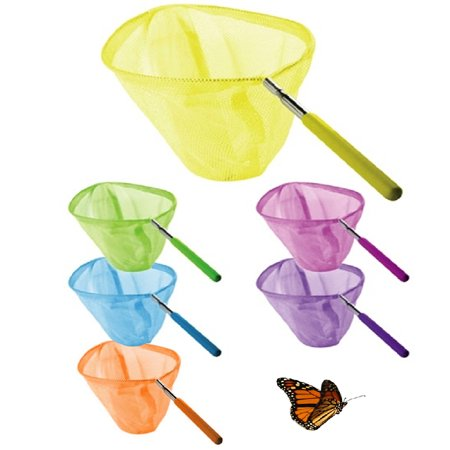 Bug Toys (1 Extendable Kids Telescopic Butterfly Net Toy Catching Bugs Insect Fish Gift)