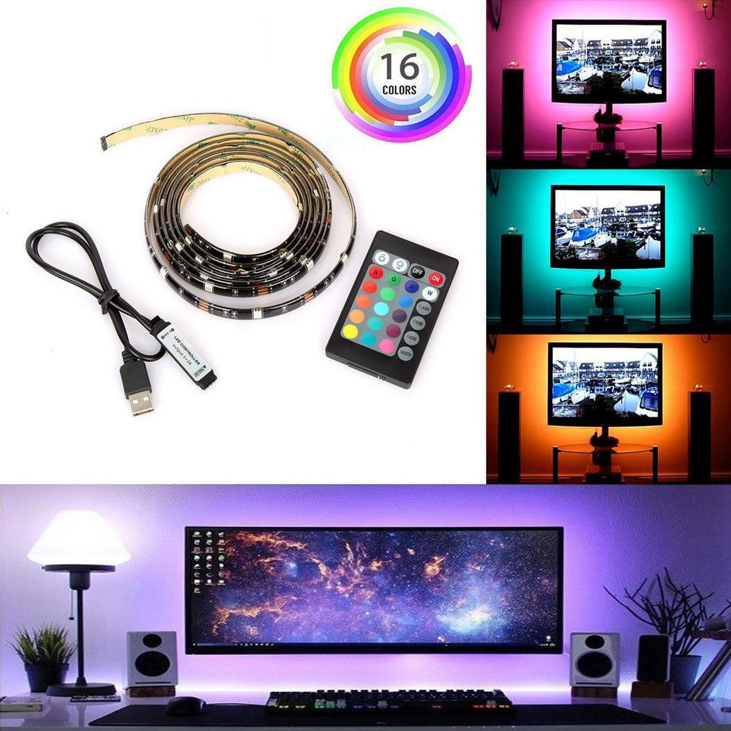 Computer Television Background Lights 24 Keys Remote Controller LED Light Strip HFON