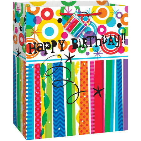 Mod Rainbow Happy Birthday Gift Bag](Children's Gift Bags)