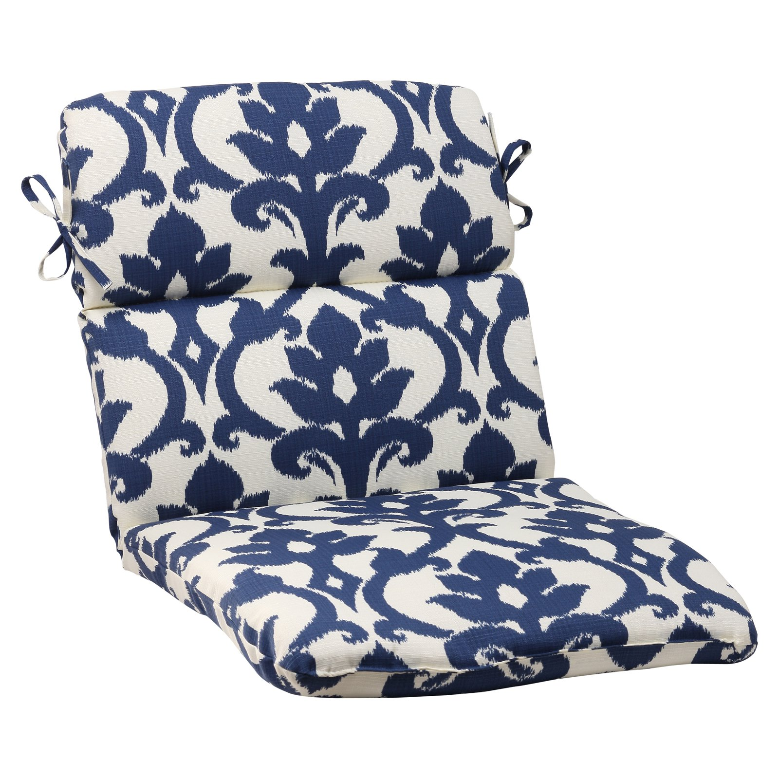 Pillow Perfect Outdoor/ Indoor Bosco Navy Rounded Corners Chair Cushion