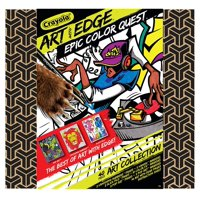 Crayola Art With Edge, Coloring Set, Adult Coloring, Includes 10 Color Fx Markers, 5 Vanishing Numbers