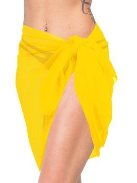 0f4d9e838a Product Image Sheer SWIMWEAR Womens Wrap Scarf Bikini Short Skirt Beach  Cover ups Sarong Plain