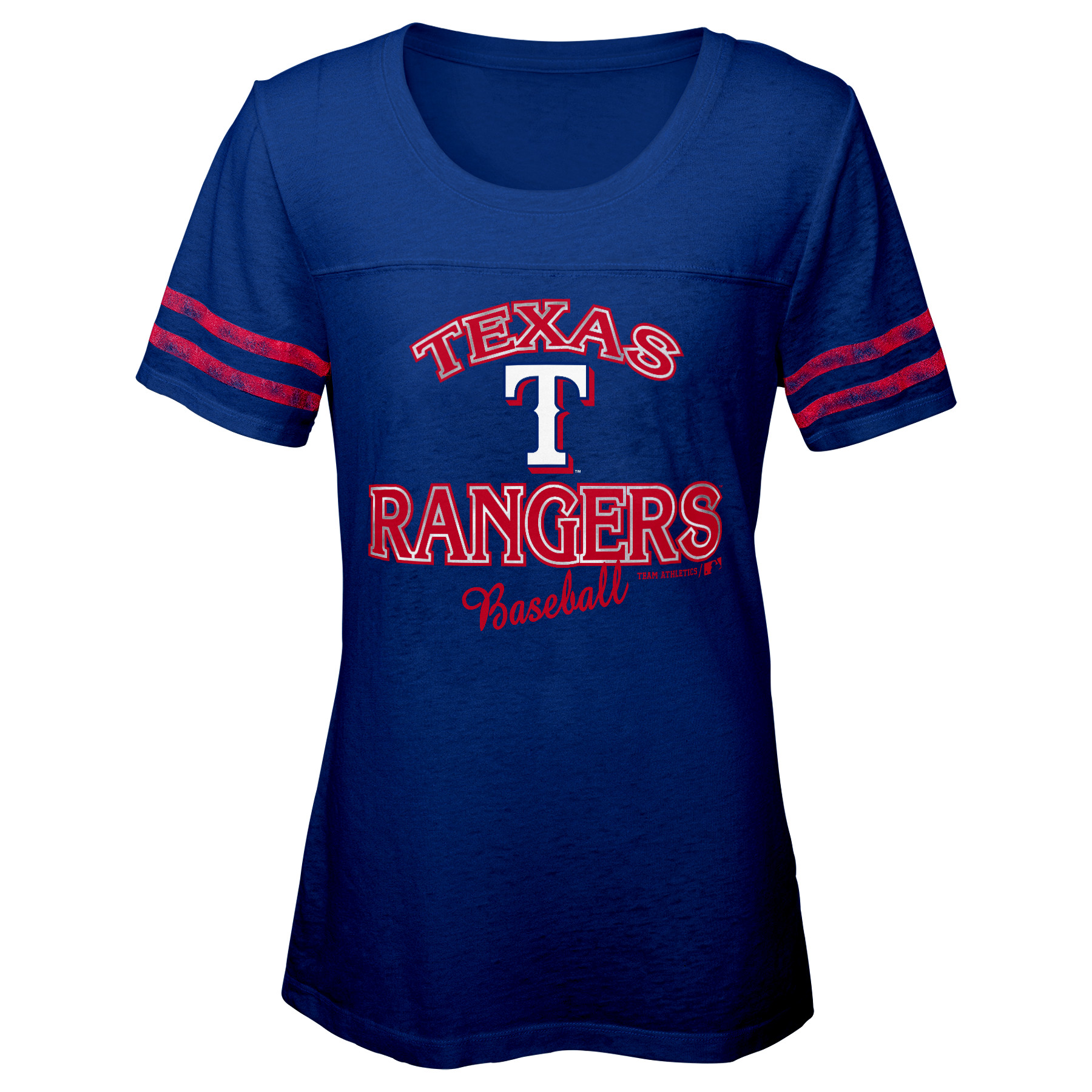 MLB Texas RANGERS TEE Short Sleeve Girls Fashion 60% Cotton 40% Polyester Alternate Team Colors 7 - 16