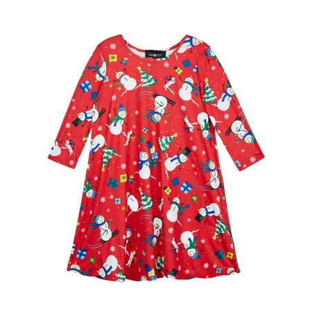Amy Byer Girls 7-16 Holiday Christmas Knit Long Sleeve Dress (Big Girls) ()