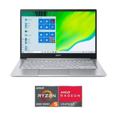"""Acer Swift 3 Laptop, 14"""" Full HD 1080p, AMD Ryzen 5 4500U Hexa-Core Processor, 8GB RAM, 256GB SSD, Fingerprint Reader, Back-lit Keyboard, Windows 10 Home, SF314-42-R0HP"""