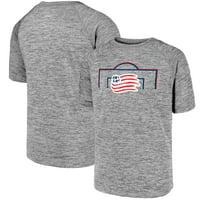 New England Revolution Fanatics Branded Youth Just Getting Started Raglan T-Shirt - Heathered Gray