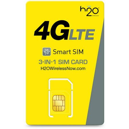 h2o Smart SIM Starter Kit 3-in-1 GSM SIM Card (Use 2 Sim Cards In One Phone)