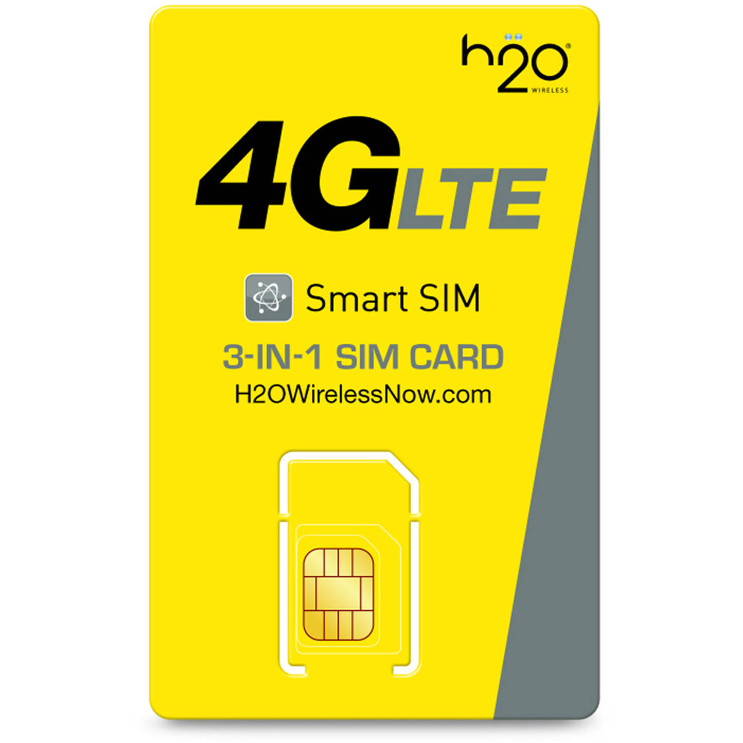 H20 3-in-One SIM Card, Standard Size