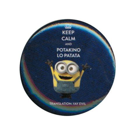 Despicable Me Minions Yay Evil 1.25 Inch Button (Evil Minion Wig)