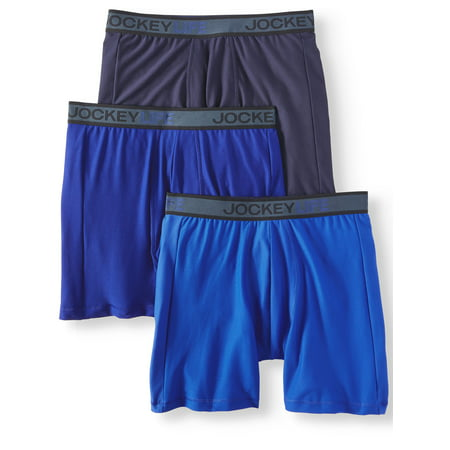 Elance 3 Pack Brief - Jockey Life Men's Breathe Micro Mesh Long-Leg Boxer Brief - 3 pack