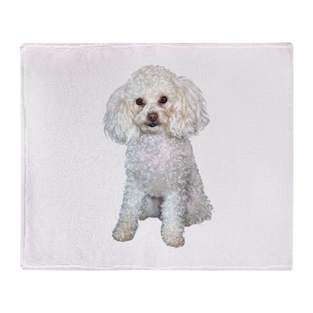 CafePress - Poodle Min (W) - Soft Fleece Throw Blanket, 50