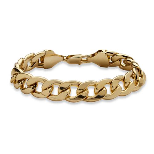 Men's Curb-Link Bracelet in Yellow Gold Tone